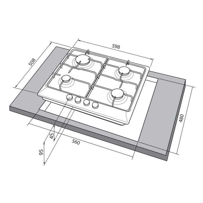 Встраиваемая варочная поверхность Freggia HA640VGX