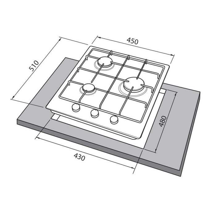 Встраиваемая варочная поверхность Freggia HB430VB
