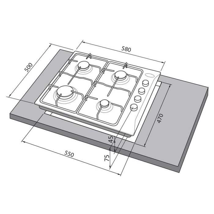 Встраиваемая варочная поверхность Freggia HB640W