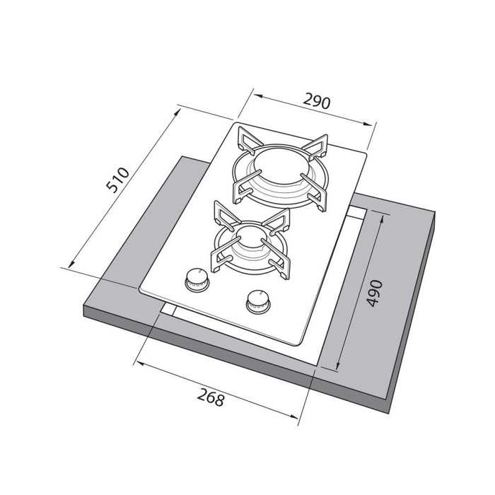 Встраиваемая варочная поверхность Freggia HC320VGW