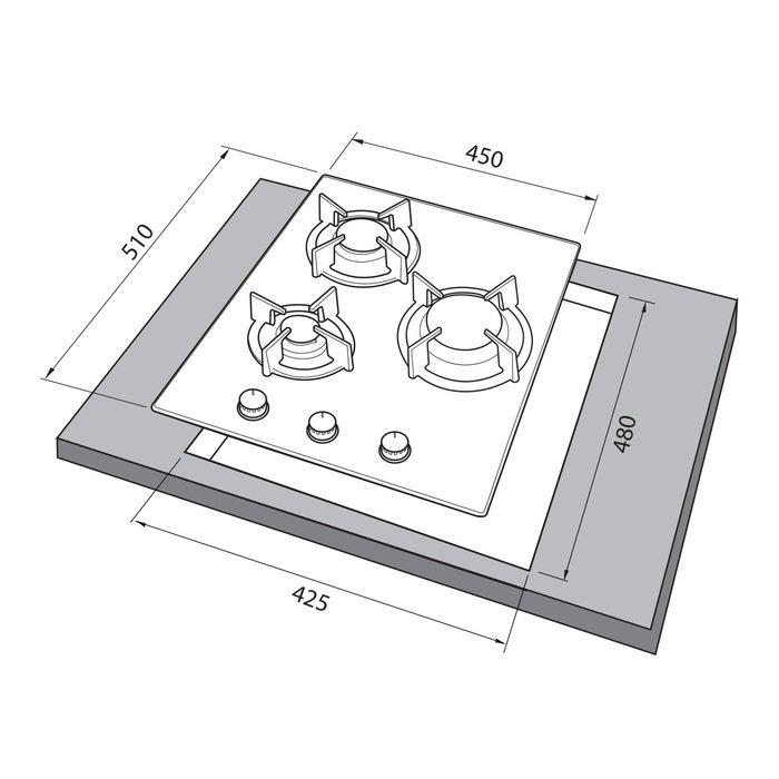 Встраиваемая варочная поверхность Freggia HC430VGB