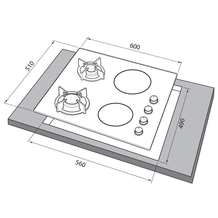 Встраиваемая варочная поверхность Freggia HC622VGB