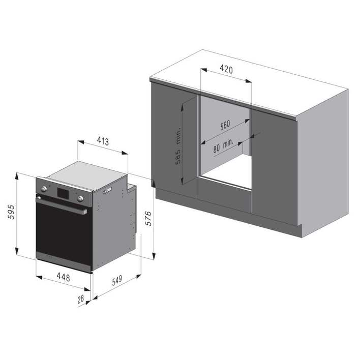 Вбудована духова шафа Freggia OEMC45X